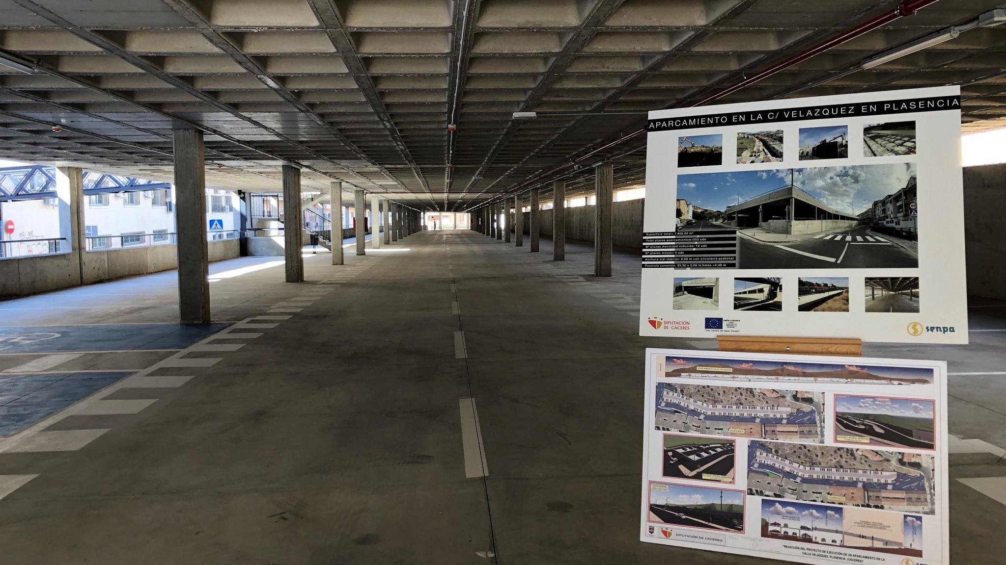 Plasencia suma 305 nuevas plazas de aparcamiento gratuito con cargo al FEDER-DUSI