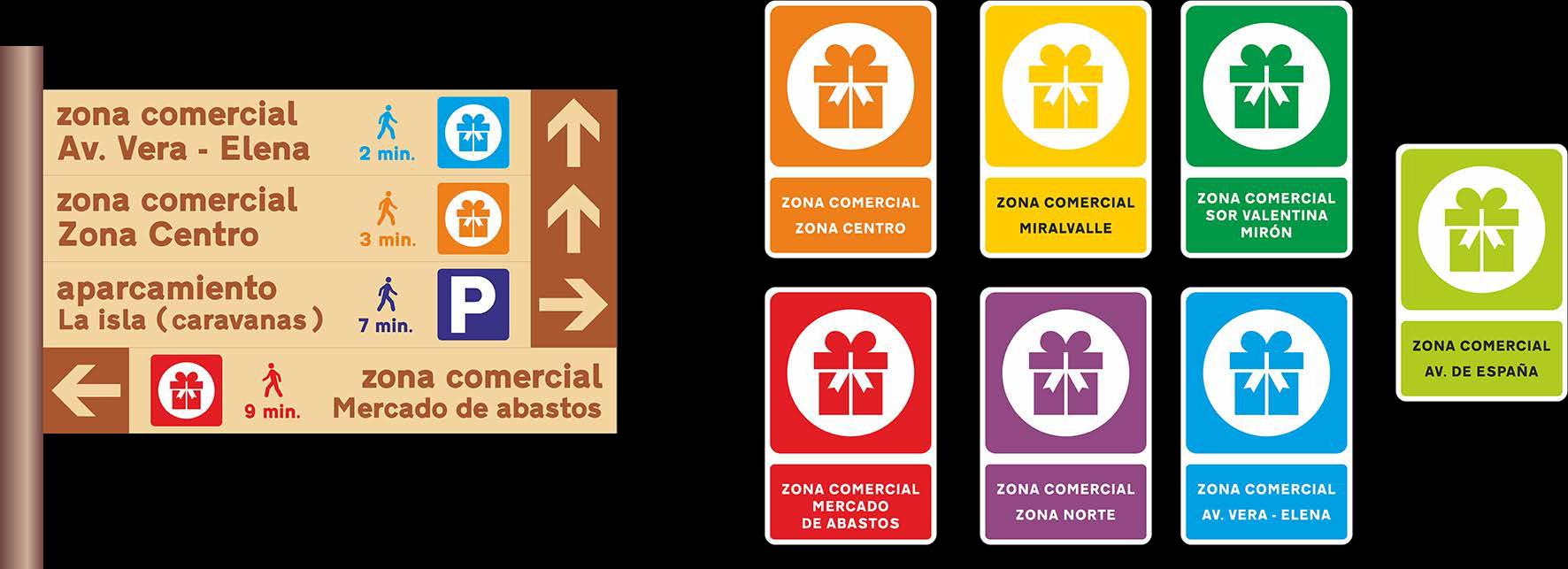 Validadas las áreas del Plan de Señalización Comercial de Plasencia, en el marco del FEDER-DUSI